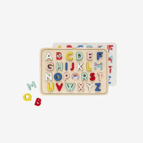Wood Tray Puzzle – Multi-Language ABC