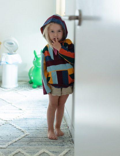 Kids Amy Poncho - Joy Stripe