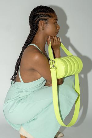 Quilted Mini Duffle Bag • Grasshopper