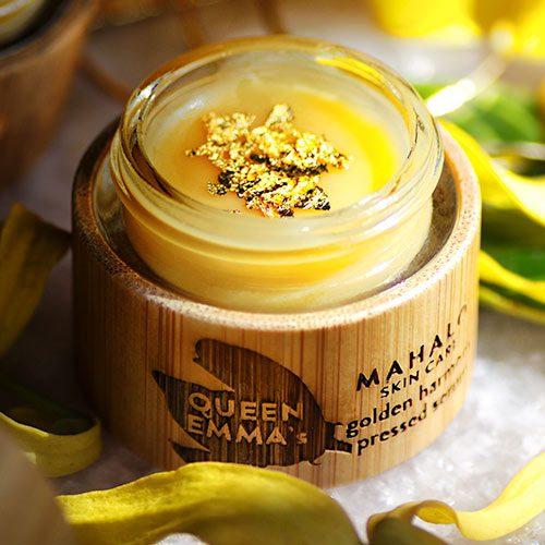 The QUEEN EMMA's golden harmony pressed serum| MAHALO Skin Care