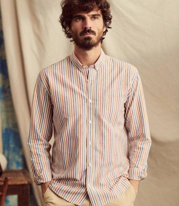 Cotton Linen Charlie Shirt – Multicoloured stripes