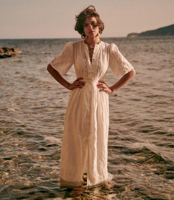 Maitena Dress – Ecru – Organic Cotton – Sézane