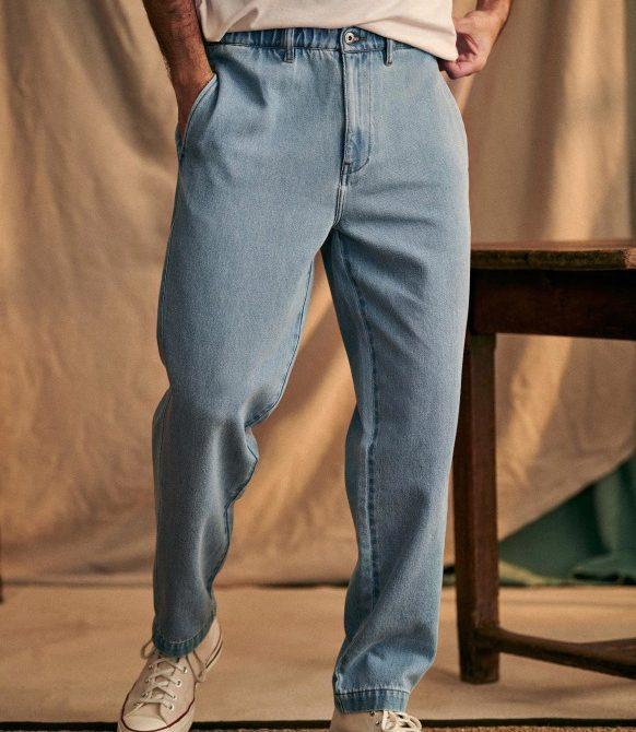 Shane Trousers – Light Denim – Organic Cotton