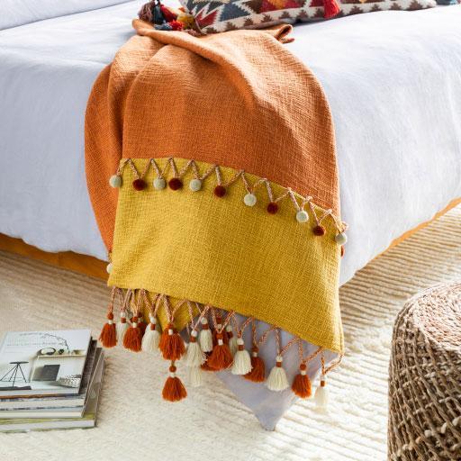 Gold Fiesta Throw Blanket -Jungalow