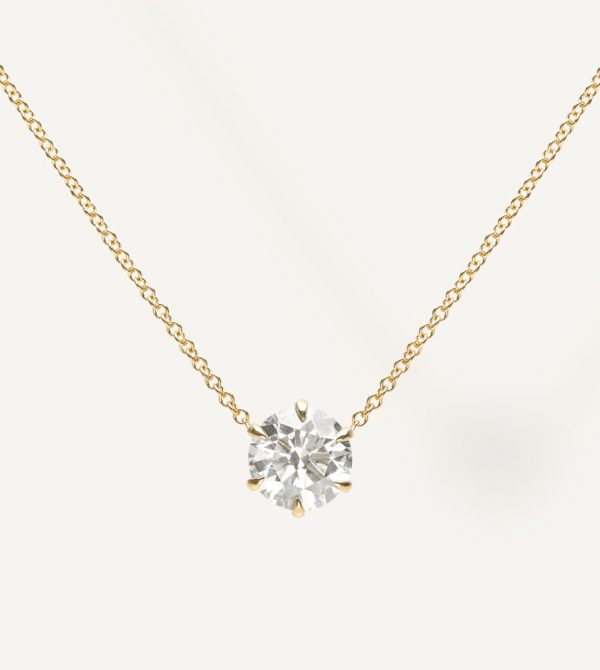 Round-Brilliant Diamond Necklace