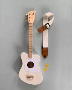 Kids Wooden Guitar With StrapBlack Guitar + Strap