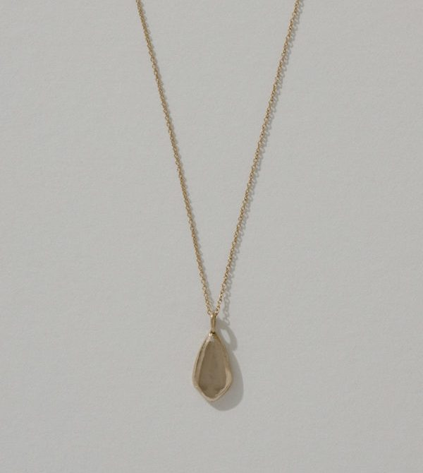 Gold Small Petal Necklace | Another Feather
