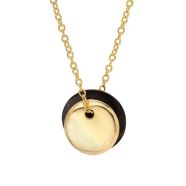 Mini Ripple Horn Disc Necklace