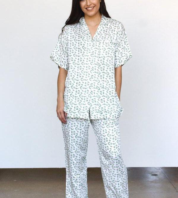 Modal Leopard Pajama Set
