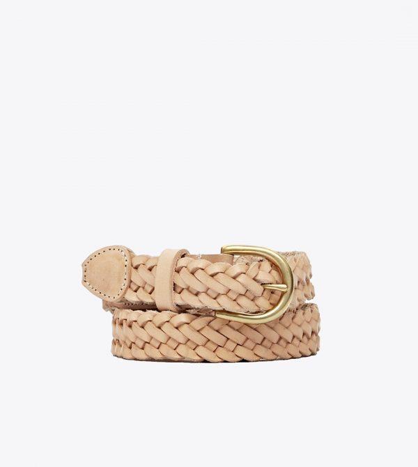 Talia Braided Belt Natural Vachetta