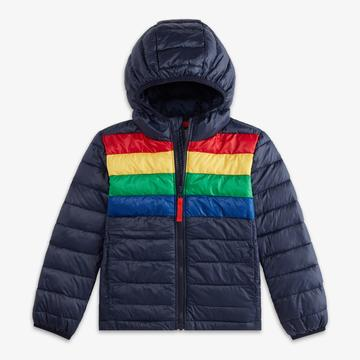 Puffer Jacket (Rainbow Stripe)