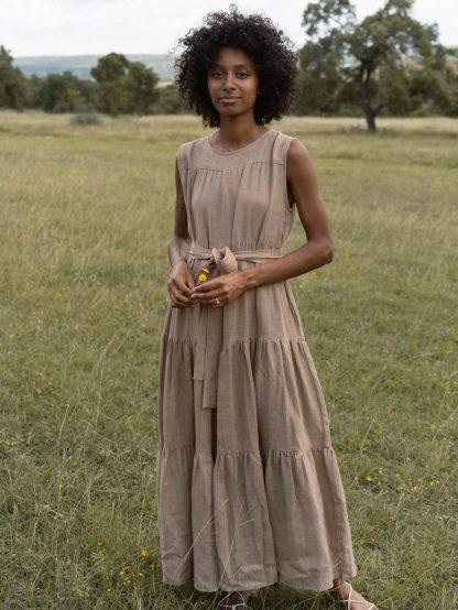 Tiered Maxi Dress - Mocha - LAUDE the Label