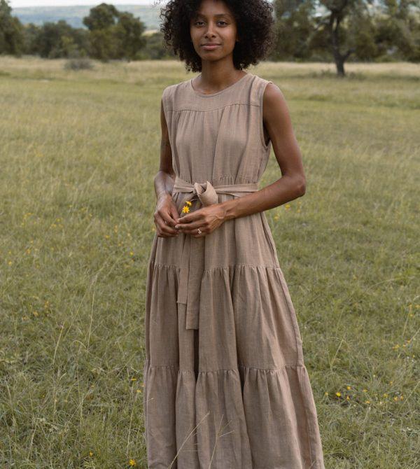 Tiered Maxi Dress (Mocha)