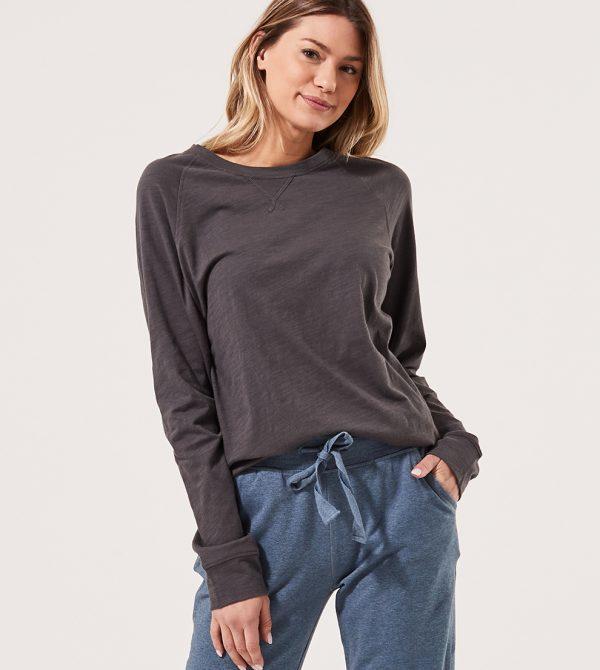 Women's Textured Slub Sweatshirt Tee