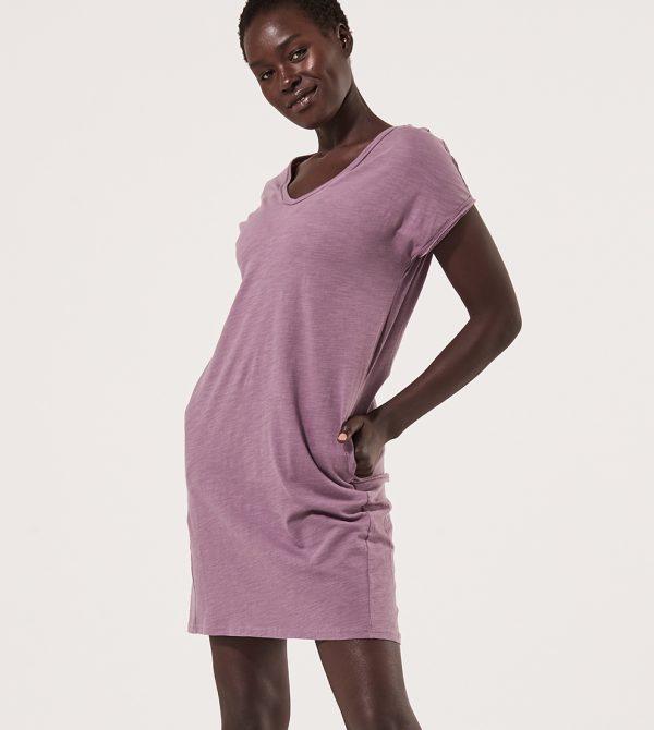 Women's Textured Slub Market Tee Dress
