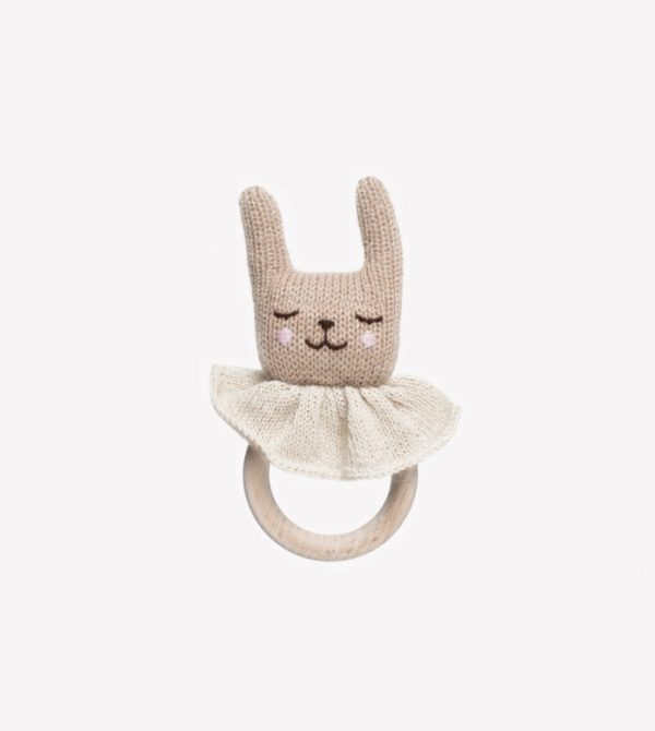 Rabbit Teething Ring – Main Sauvage