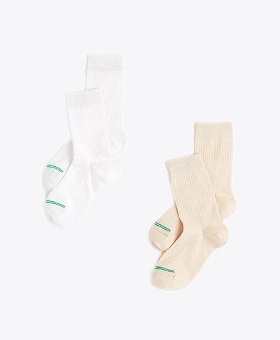 Women's Organic Crew Socks 2-pack