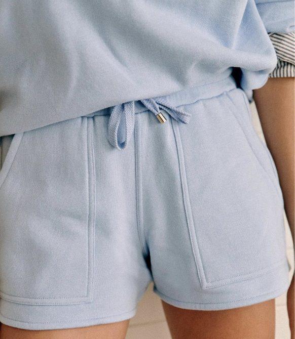 Amélia Shorts – Powder Blue – Organic Cotton – Sézane