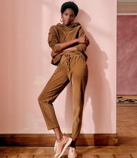 Sarah Joggers – Camel – Organic Cotton – Sézane